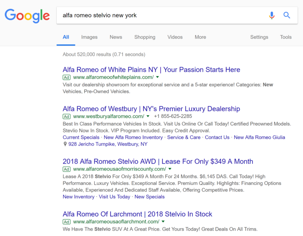 Search Text Ads on Google